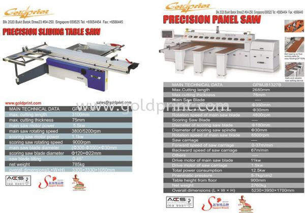 Saw cutting machine Equipments Signages Accessories Supplies Singapore Supply Suppliers   Goldprint Enterprise Pte Ltd