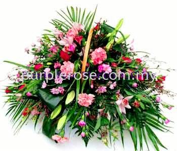 Flowers Basket Set 18(SGD60) Flower Basket Johor Bahru Supply, Supplier, Delivery   Purple Rose Florist & Gifts