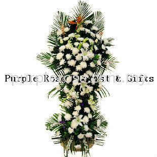 Condolence Sympathy Stand18 (SGD80) Sympathy Johor Bahru Supply, Supplier, Delivery | Purple Rose Florist & Gifts