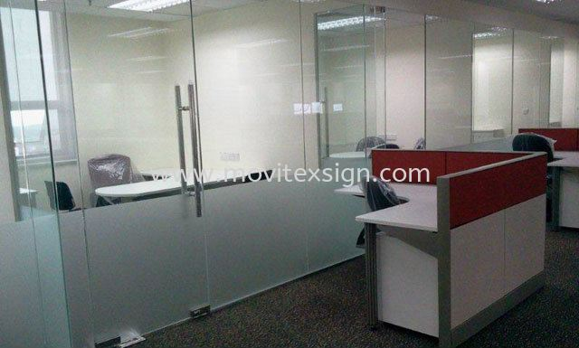 sandblast flim for office glass door (click for more detail) Glass Door Vinyl Graphic Sign Johor Bahru (JB), Johor, Malaysia. Design, Supplier, Manufacturers, Suppliers | M-Movitexsign Advertising Art & Print Sdn Bhd