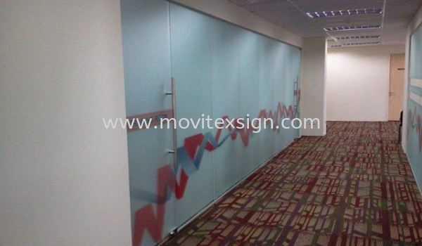 meeting  room tinted glass with graphics printing  Glass Door Vinyl Graphic Sign Johor Bahru (JB), Johor, Malaysia. Design, Supplier, Manufacturers, Suppliers | M-Movitexsign Advertising Art & Print Sdn Bhd