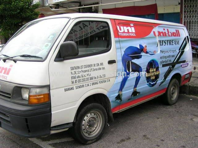 Van half rap Advertising picture n company V02 Van Vehicle Advertising Johor Bahru (JB), Johor, Malaysia. Design, Supplier, Manufacturers, Suppliers | M-Movitexsign Advertising Art & Print Sdn Bhd