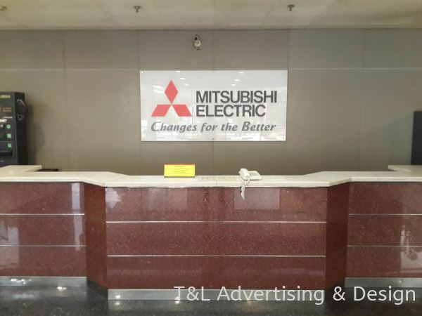 Mitsubishi 10mm clear acrylic based + 10mm clear + sticker lettering + 4 bold nuts Acrylic Signage Johor Bahru (JB), Malaysia, Skudai Supplier, Supply, Design, Install   T & L Advertising & Design