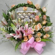 FB 004 Fruit and Floral Basket Taiping, Perak, Malaysia. Suppliers, Supplies, Supplier, Supply | Irene's Florists De Beaute