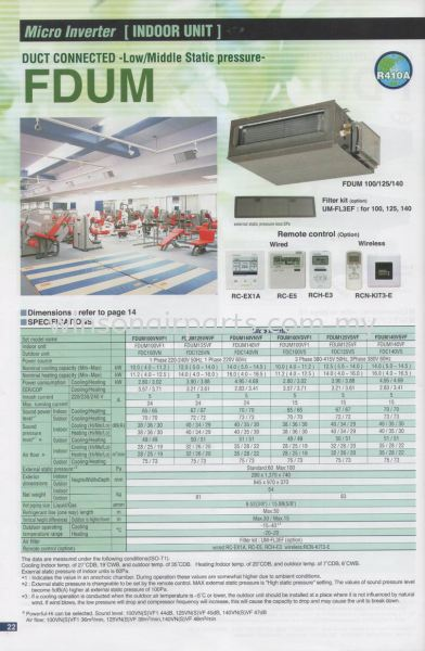Micro Inverter - Duct Connected Low/Middle Static Pressure FDUM Mitsubishi Heavy Duty - Unitarg Residencial Product Air - Cond Products Skudai, Johor Bahru (JB), Malaysia. Suppliers, Supplies, Supplier, Repair | Winsonair Conditioning Sdn Bhd