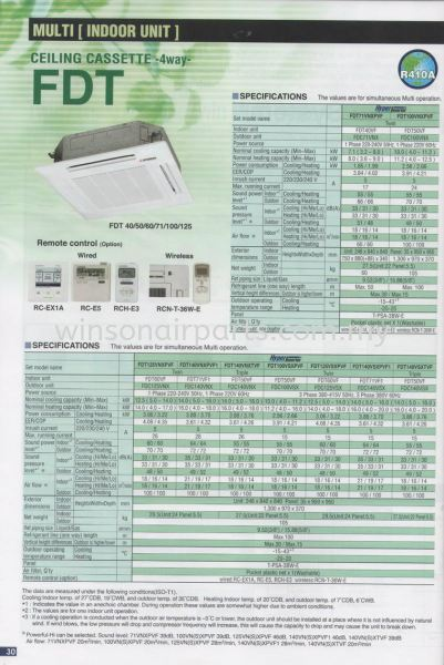 Multi (Indoor Unit) - Ceiling Cassette 4 Way FDT Mitsubishi Heavy Duty - Unitarg Residencial Product Air - Cond Products Skudai, Johor Bahru (JB), Malaysia. Suppliers, Supplies, Supplier, Repair | Winsonair Conditioning Sdn Bhd