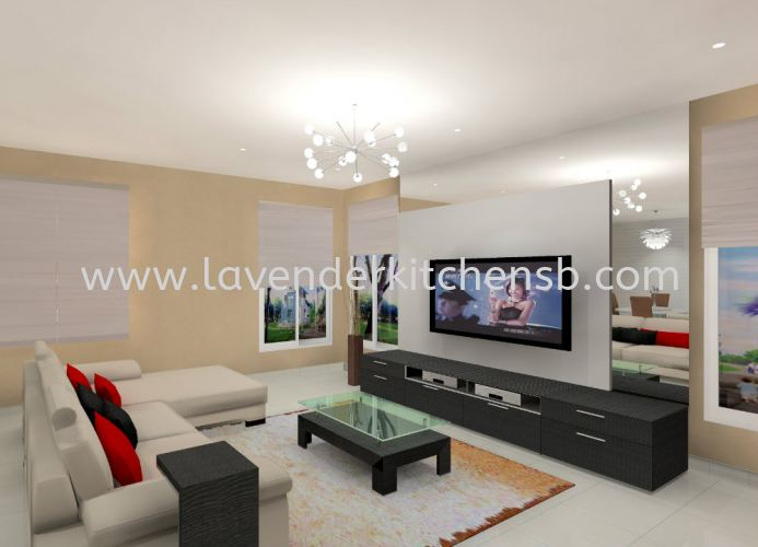3D Drawing TV Cabinet