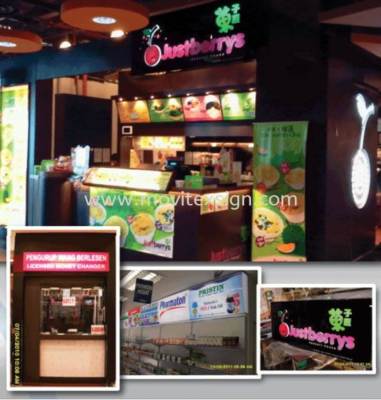 Indoor signage sample for fast food counter design and install Signboard / Lighting Signboard  Johor Bahru (JB), Johor, Malaysia. Design, Supplier, Manufacturers, Suppliers | M-Movitexsign Advertising Art & Print Sdn Bhd