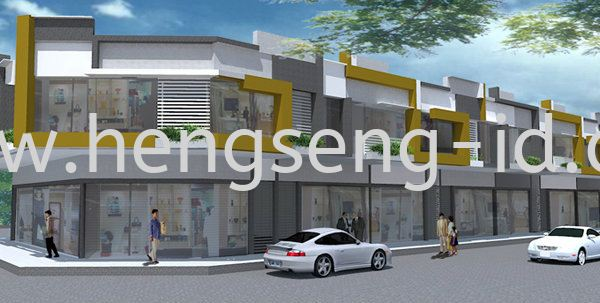 Shop Lot Design Shop Lot Design Commercial Design JB, Johor Bahru, Bandar Uda Utama Design, Service | Heng Seng Interior Design & Renovation
