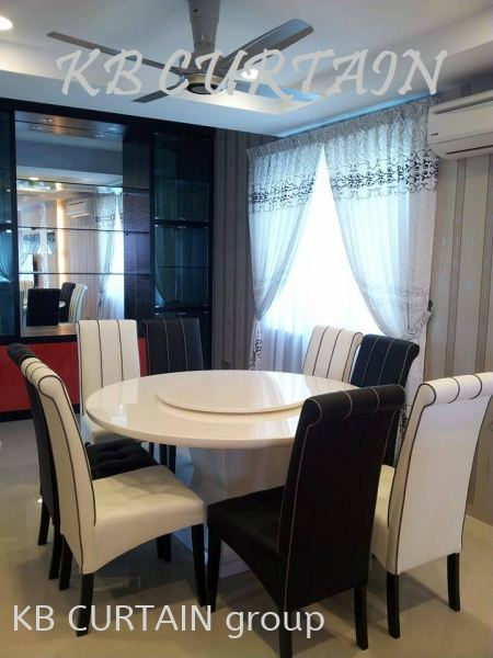 batu pahat bungalow Dining Concept Curtain / Wallpaper Johor Bahru (JB), Skudai, Singapore Design, Supplier, Renovation | KB Curtain & Interior Decoration