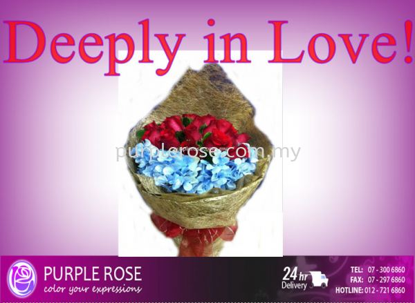 Rose Bouquet Set 21(SGD60) Blossom Rose Bouquet Johor Bahru Supply, Supplier, Delivery | Purple Rose Florist & Gifts