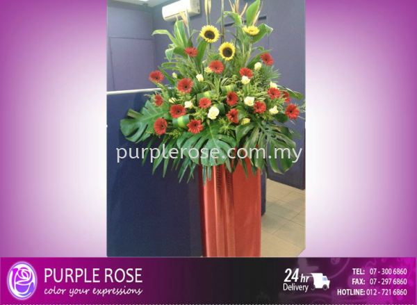 Grand Opening Stand-28 (SGD80) Opening Ceremony Johor Bahru Supply, Supplier, Delivery | Purple Rose Florist & Gifts