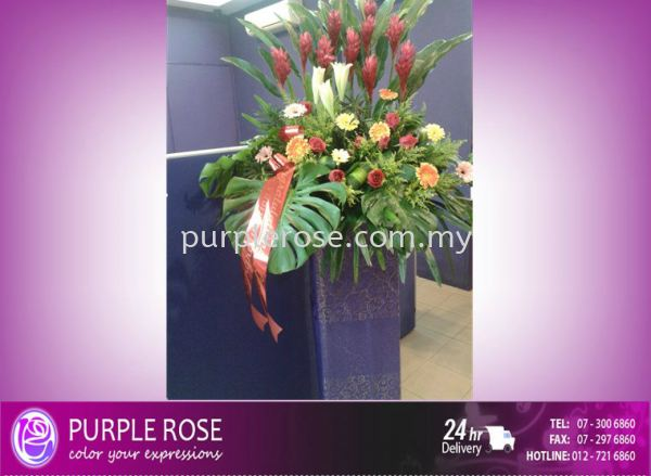 Grand Opening Stand-29 (SGD60) Opening Ceremony Johor Bahru Supply, Supplier, Delivery   Purple Rose Florist & Gifts