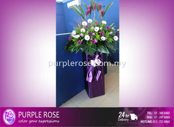 Grand Opening Stand-39 (SGD68) Opening Ceremony Johor Bahru Supply, Supplier, Delivery | Purple Rose Florist & Gifts
