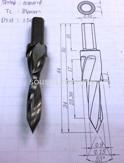 Tailor made Carbide Step Drill for Woodworking Industry 木加工业   Sharpening, Regrinding, Turning, Milling Services | Sousta Cutters Sdn Bhd