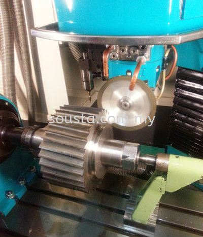 Grinding of Rotary Pellet Cutter for Plastic Industry Plastic and Packaging Industries Johor Bahru (JB), Malaysia Sharpening, Regrinding, Turning, Milling Services   Sousta Cutters Sdn Bhd