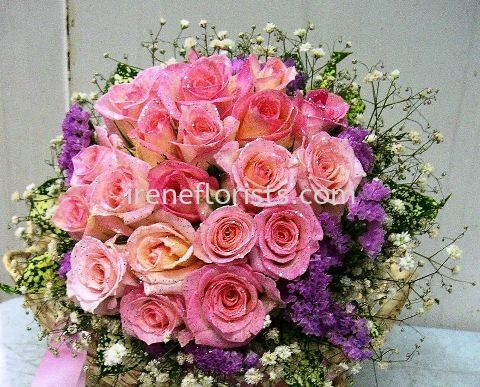 BBF 009 Fresh Roses Bridal Bouquet Floral Design Taiping, Perak, Malaysia. Suppliers, Supplies, Supplier, Supply | Irene's Florists De Beaute