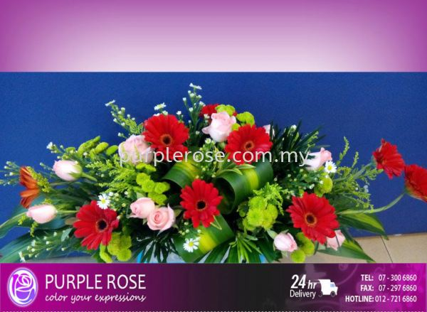 Table Arrangement Set 01(SGD60) Table Arrangment Johor Bahru Supply, Supplier, Delivery | Purple Rose Florist & Gifts