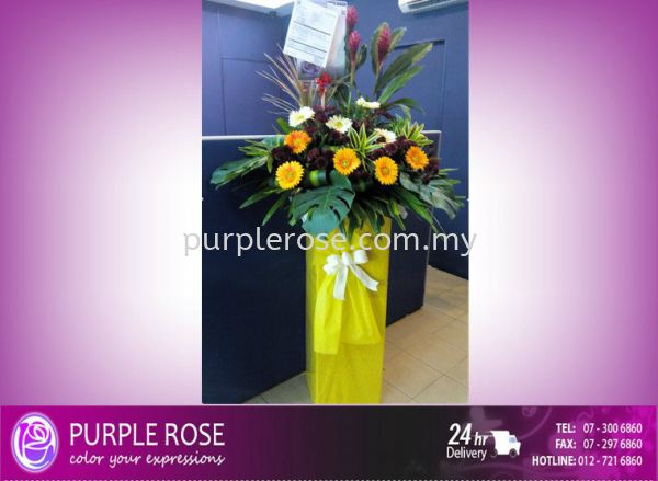Grand Opening Stand-67 (SGD48) Opening Ceremony Johor Bahru Supply, Supplier, Delivery   Purple Rose Florist & Gifts