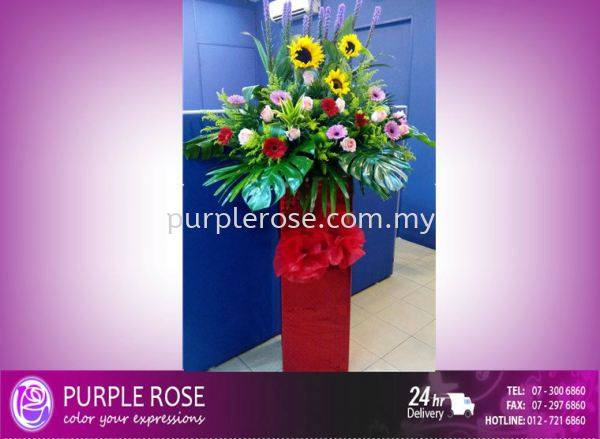 Grand Opening Stand-69 (SGD60) Opening Ceremony Johor Bahru Supply, Supplier, Delivery | Purple Rose Florist & Gifts