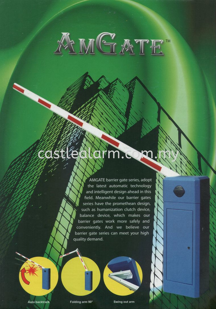 Am Gate Automatic Barrier Gate System Johor Bahru (JB), Kulai Supplier, Supplies, Installation | Castle Alarm System & Automation