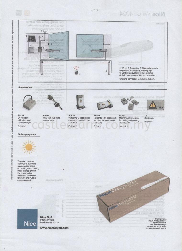 Nice WG4024 Autogate Automatic Gate System Johor Bahru (JB), Kulai Supplier, Supplies, Installation | Castle Alarm System & Automation