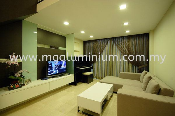 Living Hall Design Interior Design Johor Bahru (JB), Johor. Design, Installation, Supply | MG Aluminium & Glass Works