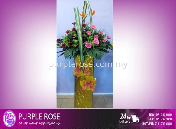 Grand Opening Stand-76 (SGD48) Opening Ceremony Johor Bahru Supply, Supplier, Delivery | Purple Rose Florist & Gifts