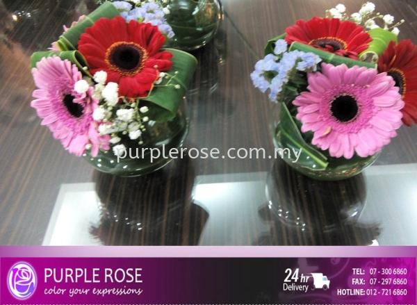 Table Arrangement Set 10(SGD36) Table Arrangment Johor Bahru Supply, Supplier, Delivery | Purple Rose Florist & Gifts