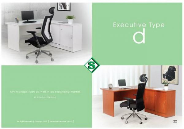 Executive Type D Office Table - S Series Malaysia, Selangor, Kuala Lumpur (KL), Puchong Supplier, Suppliers, Supply, Supplies | Kenwei Office System Sdn Bhd
