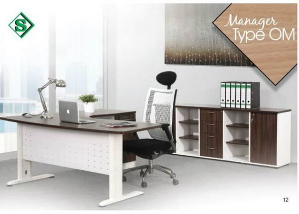 Manager Type OM Office Table - S Series Malaysia, Selangor, Kuala Lumpur (KL), Puchong Supplier, Suppliers, Supply, Supplies | Kenwei Office System Sdn Bhd
