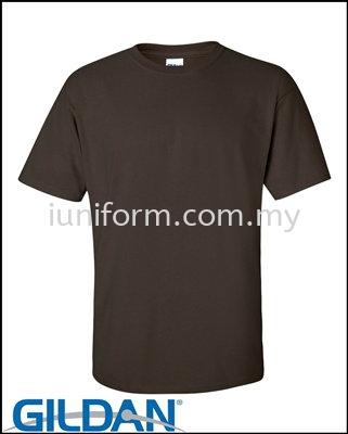 DARK CHOCOLATE (76000 105C) PREMIUM COTTON - ADULT RING SPUN ROUND NECK GILDAN Johor Bahru (JB), Skudai, Impian Emas Supplier, Manufacturer, One Stop | I Uniform & T Shirt