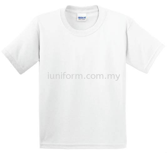 WHITE (76000B 30N) KIDS RING SPUN ROUND NECK GILDAN Johor Bahru (JB), Skudai, Impian Emas Supplier, Manufacturer, One Stop | I Uniform & T Shirt