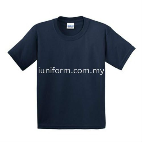 NAVY BLUE (76000B 32C) KIDS RING SPUN ROUND NECK GILDAN Johor Bahru (JB), Skudai, Impian Emas Supplier, Manufacturer, One Stop | I Uniform & T Shirt