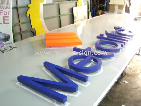 3D Lettering backlite  witn LED n polycarbonate board  3D Embossed Lettering Sign Johor Bahru (JB), Johor, Malaysia. Design, Supplier, Manufacturers, Suppliers | M-Movitexsign Advertising Art & Print Sdn Bhd