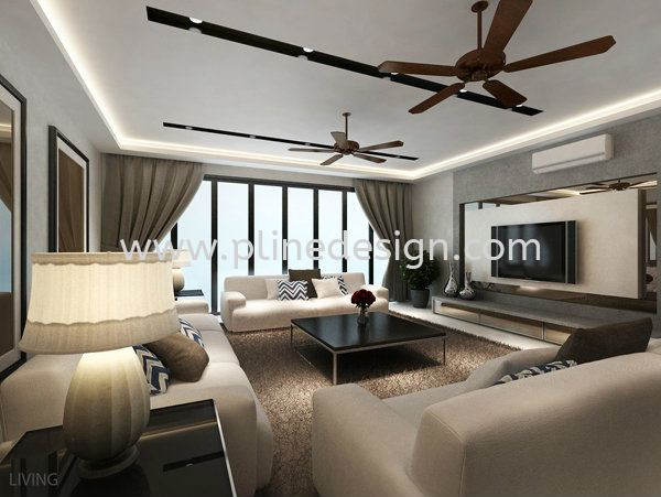 Tv Feature Wall Design Living Room Design JB Johor Bahru Design & Renovation | P LINE CONSTRUCTION SDN BHD