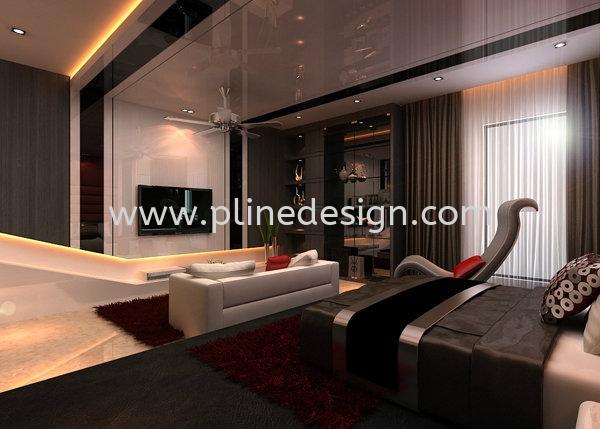 Master Bedroom Master Bedroom Design JB Johor Bahru Design & Renovation | P LINE CONSTRUCTION SDN BHD