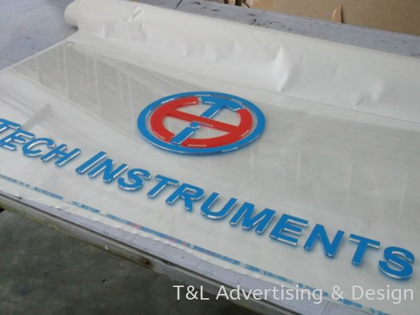 Hi Tech 5mm clear acrylic with front sticker Acrylic Signage Johor Bahru (JB), Malaysia, Skudai Supplier, Supply, Design, Install   T & L Advertising & Design