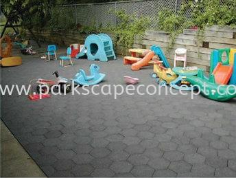 Hexagon Tile Interlock Tiles Rubflex Puchong, Selangor, Kuala Lumpur, KL, Malaysia. Manufacturer, Supplier, Supplies, Supply | Parkscape Concept Sdn Bhd