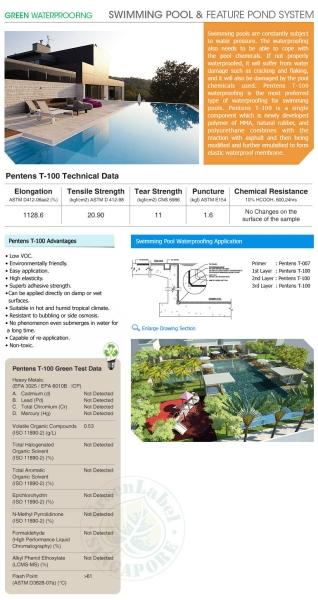 Swimming Pool & Pond System Waterproofing DIY Pentens Klang, Sungai Buloh, Selangor, Kuala Lumpur (KL), Malaysia. Supplier, Supply, Wholesaler, Rental | Puncak Alam Hardware Sdn Bhd