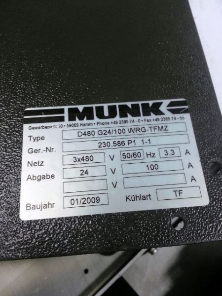 REPAIR MUNK RECTIFIER D480 G24/1000 WRG-TFE 24V 100A SINGAPORE INDONESIA MALAYSI Repairing Malaysia, Indonesia, Johor Bahru (JB)  Repair, Service, Supplies, Supplier | First Multi Ever Corporation Sdn Bhd