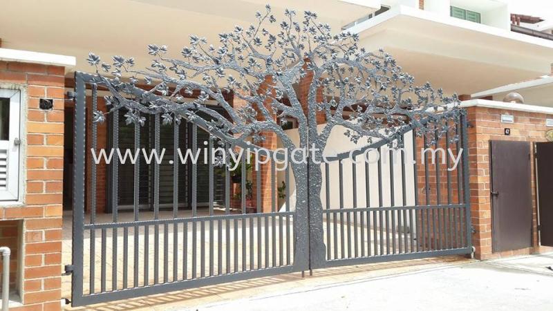 Wrought Iron Swam Main Gate Wrought Iron Swam Main Gate Selangor, Malaysia, Balakong, Kuala Lumpur (KL) Service, Supplier, Supply, Installation | Win Yip Gate & Roof Sdn Bhd