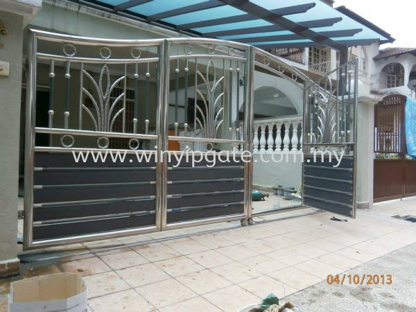 Stainlees Steel Main Gate Stainlees Steel Main Gate Selangor, Malaysia, Balakong, Kuala Lumpur (KL) Service, Supplier, Supply, Installation | Win Yip Gate & Roof Sdn Bhd