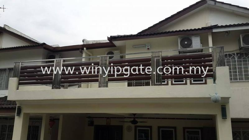 Stainless Steel Balcony Railing Stainless Steel Balcony Railing Selangor, Malaysia, Balakong, Kuala Lumpur (KL) Service, Supplier, Supply, Installation | Win Yip Gate & Roof Sdn Bhd