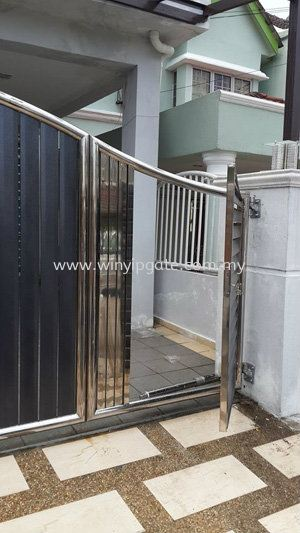 Stainless Steel Folding Gate and Fully Aluminum Plate Stainless Steel Folding Gate and Fully Aluminum Plate Selangor, Malaysia, Balakong, Kuala Lumpur (KL) Service, Supplier, Supply, Installation   Win Yip Gate & Roof Sdn Bhd