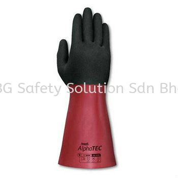 Nitrile - <ANSELL> 58-535 AlphaTec Glove Chemical Resistant Glove Hand Protection Johor Bahru, JB, Tampoi, Johor, Malaysia. Supplier, Supplies, Supply, Provider | BG Safety Solution Sdn Bhd