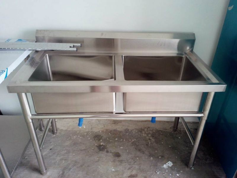 Stainless steel sink - double  Stainless Steel Item Johor Bahru JB Malaysia Supply, Supplier, Supplies | Xuan Huat Food Equipment Sdn Bhd