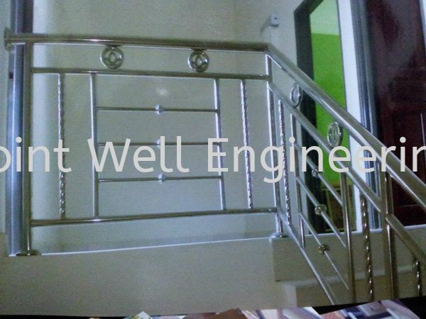 Stainless Steel Staircase Railings Full Stainless Steel Stainless Steel Stair Hand Railing Johor Bahru (JB), Johor Installation, Supplier, Supplies, Supply | Joint Well Engineering