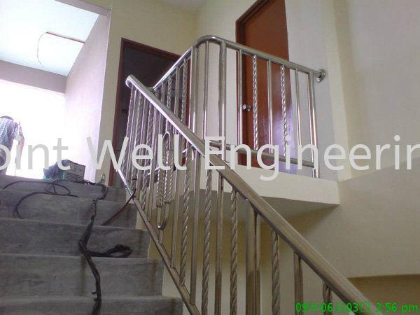 Stainless Steel Stair Handrail Full Stainless Steel Stainless Steel Stair Hand Railing Johor Bahru (JB), Johor Installation, Supplier, Supplies, Supply | Joint Well Engineering