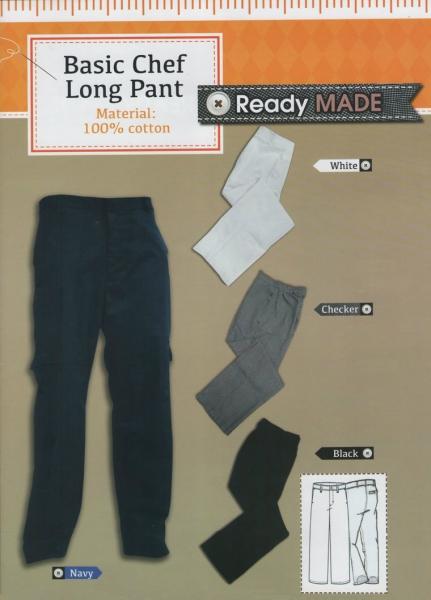 Basic Chef Long Pant Basic Chef Long Pant Ready Made Johor Bahru JB Malaysia Uniforms Manufacturer, Design & Supplier | Pan Uniform Manufacturing Sdn Bhd